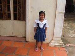 new school uniform, this girl was also from a very poor rural are (ngobwnb) Tags: poverty b girls boys kids asia cambodia sihanoukville hiv with no books orphanage orphans ngo donate happyhouse poorkids iads bookswithnoborders