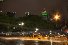 Empire State Taxi (Andrea Pirazzini) Tags: longexposure summer newyork night photoshop canon holidays taxi august empire hdr manfrotto 3x empirestatebulding photomatix 400d andreapirazzini