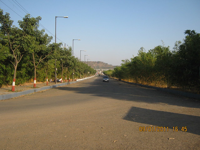 Approach road of Kolte-Patil Developers' Ivy Estate Wagholi
