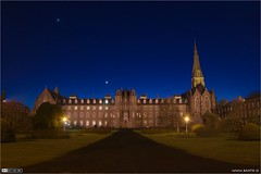 The Moon & Venus Over SPCM (bbusschots) Tags: ireland moon church night venus astrophotography 1001nights quadrangle maynooth pathway kildare historicbuilding nuim spcm flickraward thebestofday gnneniyisi 1001nightsmagiccity