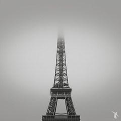 - paris - (FRJ photography) Tags: sky bw cloud white black paris france architecture de day tour eiffel nb jour ciel nuage 75 et blanc vue ville cityview noire île