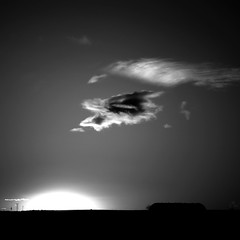 En el ltimo instante (una cierta mirada) Tags: madrid sunset sky bw sun clouds landscape explore torreespaa 15ininterestingnesson20110113