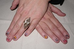 Nail Art 159 (Abby Walton) Tags: face nails emoticons smiley manicure nailpolish emotions 2010 nailart abbywalton nailartdesign