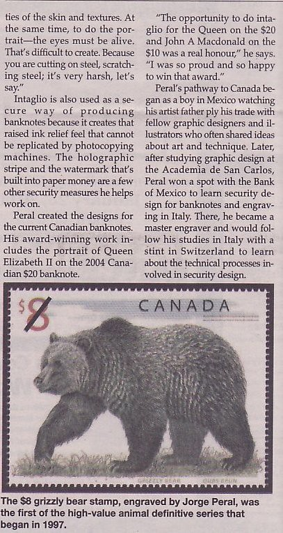 Jorge Peral: Canada Post Master Engraver - Stamp Community Forum