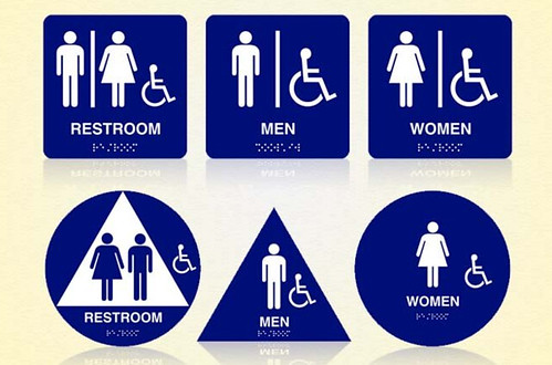 sign education ada restroom signs new laws and regulations