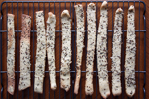 breadsticks, cooling.