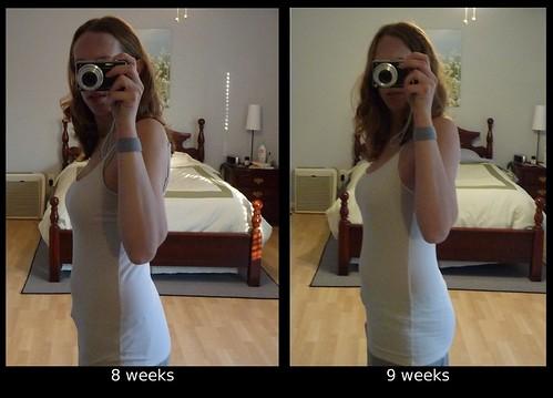 8-9 week comparison