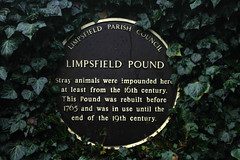 Photo of Limpsfield Pound brown plaque