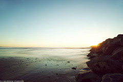 Calm sunset.. (dj murdok photos) Tags: ocean longexposure sunset beach rocks waves pacific dusk sony footprints wideangle fullframe elsegundo a850