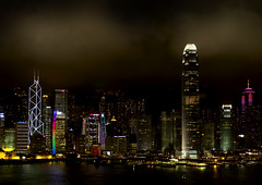 Lights pollution over Hong Kong skyline by night (Eric Lafforgue) Tags: china skyline architecture buildings hongkong lights skyscrapers nightshot illumination hasselblad pollution  nuit kina chin cina chine lumieres xina   tiongkok  chiny  kna in 5742   trungquc na   kitajska tsina