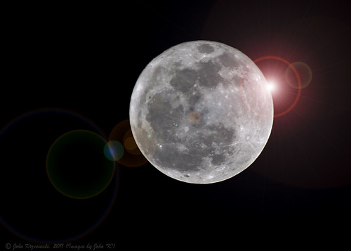 Full Moon with extra flare