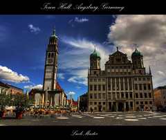 Town Hall, Augsburg, Germany (LuckMaster) Tags: city urban germany bayern bavaria town hall cityhall townhall rathaus hdr highdynamicrange stad augsburg duitsland beieren