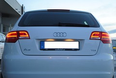 Audi A3 1.6TDI backlights