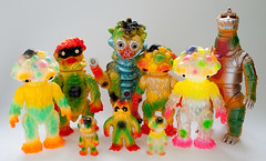 'Tokyo' colour toy collection (fun9us) Tags: people mushroom monster standing walking toy toys japanese tokyo flying paradise m1 go attack mother vinyl mini godzilla fungus terror disc masa mecha kaiju maza gargamel marmit mechagodzilla m1go charactics hedoran matango hedolan zollmen