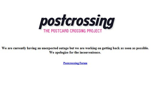 Postcrossing is down