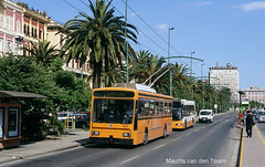 Trolleybus, Cagliari (Maurits van den Toorn) Tags: orange publictransport viaroma cagliari trolleybus oranje trolleycoach obus