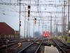 LRZ Olten erreicht Hasle-Rüegsau (Thomas Neuhaus) Tags: bahnhof sbb bls signal einfahrt halt lrz zwergsignal haslerüegsau eisenbahnsignal hauptsignal löschundrettungszug signalsysteml