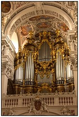 Heavenly Music (Audrey A Jackson) Tags: music colour history architecture germany cathedral religion ceiling organ passau plasterwork workmanship ststephans canon60d