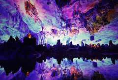 Cosmic Reed Flute Cave - Guilin (Guangxi) - China (Rogg4n) Tags: china guilin nightphotography night reflection water asia guangxi canon eos flute cave 芦笛岩 cosmic efs1018mmf4556isstm canoneos100d travel 中国 桂林 waterscape reedflutecave