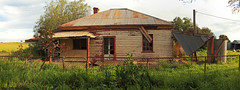 Forgotten Years (Darren Schiller) Tags: abandoned building corrugatediron derelict disused decaying deserted dilapidated disappearing empty farming farmhouse fence galvanisediron history house newsouthwales old panorama rural rustic ruins rusty suntop verandah wreck