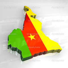 3d flag map of cameroon (mucciniale@gmail.com) Tags: 3d africa art artwork cameroon cameroonian clip country design drawing english figure flag fluttering french gold golden great green heritage illustration isolated kingdom land map nation national nationality patriot patriotic patriotism red republic ripple round sign symbol symbolic united vector yellow