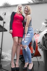 Hostess Vespa Club Capena (luciano santelli) Tags: vespa modelle modella donna donne sexy rosso gambe upskyrt sony sonyrx100 hostess