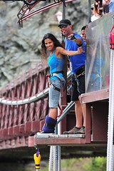 """Second #bungeejumping at the #Kawaraubridge in Queenstown, New Zealand. #itravelanddance March 2010 • <a style=""""font-size:0.8em;"""" href=""""http://www.flickr.com/photos/147943715@N05/30075289571/"""" target=""""_blank"""">View on Flickr</a>"""