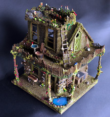 Fairy House Exterior View (Torisaur) Tags: fairytale waldorf fairy faery hobbit faerie dollhouse dollshouse fairyhouse fairytalehouse fantasyhouse