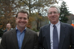 Shane Colgergn and Bill Voegeli with the Vinings Village Association