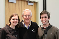 @SpaceKate and @natronics with Charlie Duke