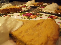 Pumpkin Shortbread with Egg Nog Ice Cream