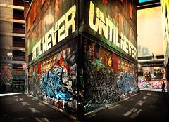 Hosier & Rutledge Lanes (alivesince85) Tags: street streetart art beautiful graffiti melbourne gritty disturbing grungy hosierlane grimy rutledgelane