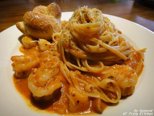 碳烤蒜香鮮蝦干貝義大利麵
