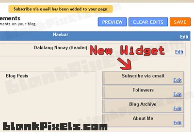 New widget on your Blogger sidebar - blankpixels.com