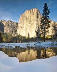 Yosemite Teaser (Jeff Swanson -- www.interfacingnature.com) Tags: snow yosemitenationalpark elcapitan mercedriver nikond200 sigma1020mmf456exdchsm graduatedneutraldensityfilter hoyahdcircularpolarizer acratechgv2ballhead thanksgivingweekend2010 induroct213 foregroundechoesbackground thecaptainmilesmorgan