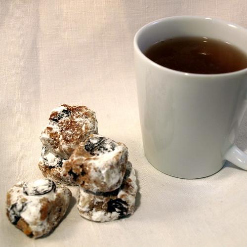 Walnuss-Mandel-Kirsch-Quader - gut zum Tee