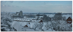 """Scouts Hill Panorama (gainsheritage """"Commenting when I Can"""") Tags: november winter snow landscape nikon d70s stjohns lincolnshire snowscape 2010 gainsborough merlyn xchurch sandsfieldlane kerrysmill scoutshill"""
