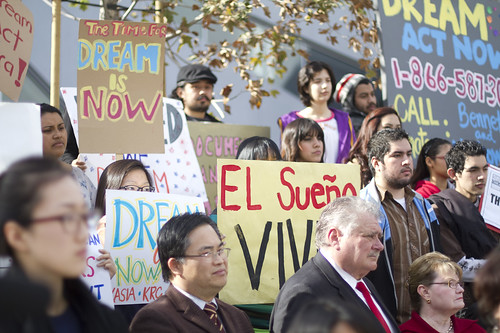 California immigration activists, young and old, fight for passage of the DREAM Act.