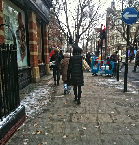 Sloane Square in Snow