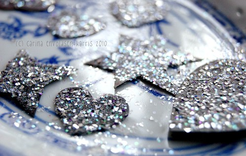 Magnet glitter hearts and stars