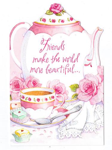 Friends make the world more beautiful birthday card a photo on friends make the world more beautiful birthday card bookmarktalkfo Image collections