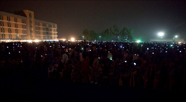 A magical moment at the Magarpatta City Foundation Day with the audience waving their mobiles to the rhythm