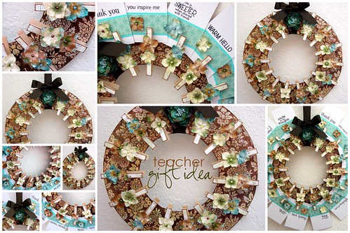 Clothespin Wreath - Teacher Gift Idea