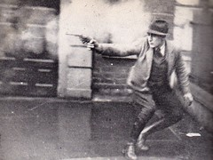 Gunfight in Dublin (sam2cents) Tags: ireland blackandwhite dublin history photography britain archive battle intelligence national spy scoop pistols gunfight skill dapper counterintelligence irishwarofindependence1920 johnjhorgan nationalmuseumcollection