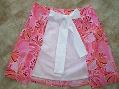 Re-purposed skirt apron