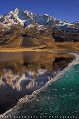 Hug.... (M Atif Saeed) Tags: pakistan mountain lake snow mountains reflection nature water landscape frozen freeze areas curve northern northernareas shandur atifsaeed gettyimagespakistanq1