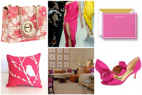 Pantone Honeysuckle Pink Mosaic