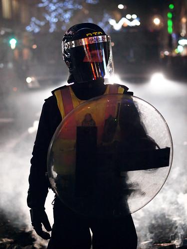 London riot police, November 2010