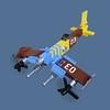 Akarusa Zero - Sky Fighter (Fredoichi) Tags: plane fighter lego military micro shooter shootemup skyfi shmup microscale dieselpunk skyfighter fredoichi