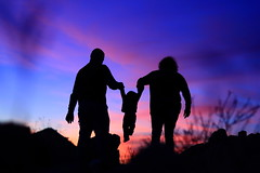 Family in Arizona After Sundown (Pyrat Wesly) Tags: family sunset arizona sky canon 50mm desert sundown goodyear t2i dwcffcolorful